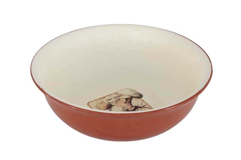 Шеф-повар Салатник большой из керамики Terracotta из Китая 22х22х8 см