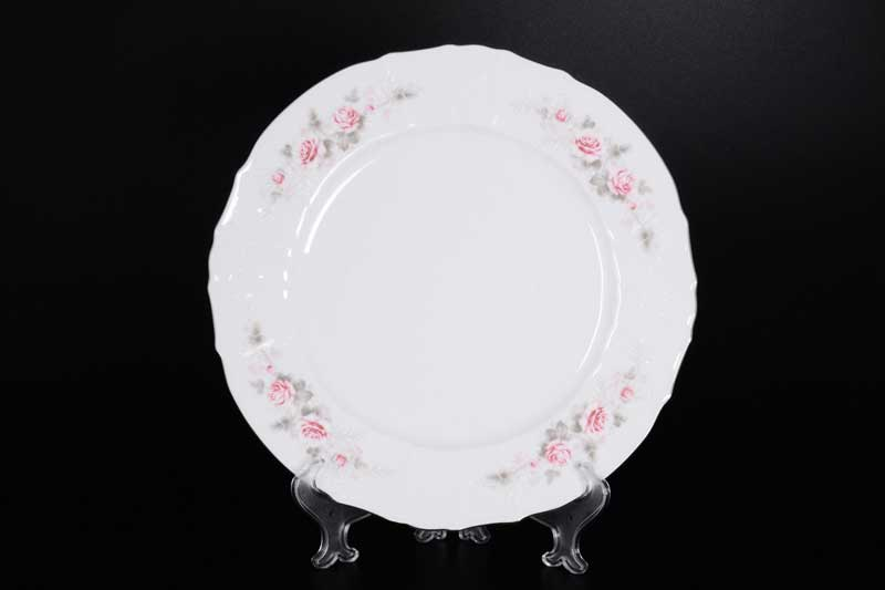 Бернадотт Серая роза платина 96021 Блюдо круглое 30 см 17406