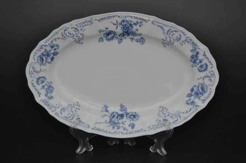 Бернадотт Синие розы 24074 Блюдо овальное 26 см 19285