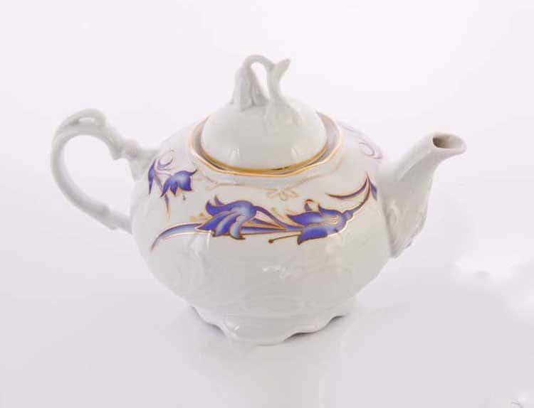 Тулип 62700 Чайник  из фарфора Thun 1,2 л.
