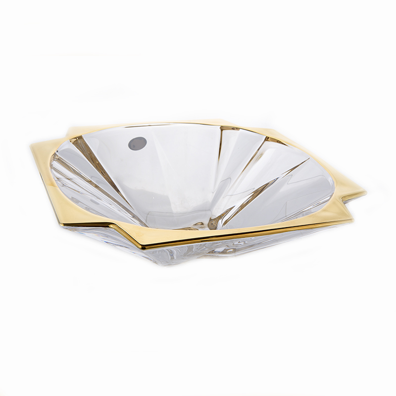 Метрополитан Блестящая 1 Ваза для фруктов Union Glass 33 см.