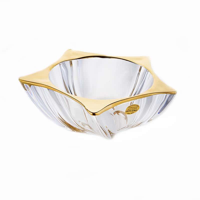 Еко Блестящая 1 Ваза для фруктов Union Glass 21 см.