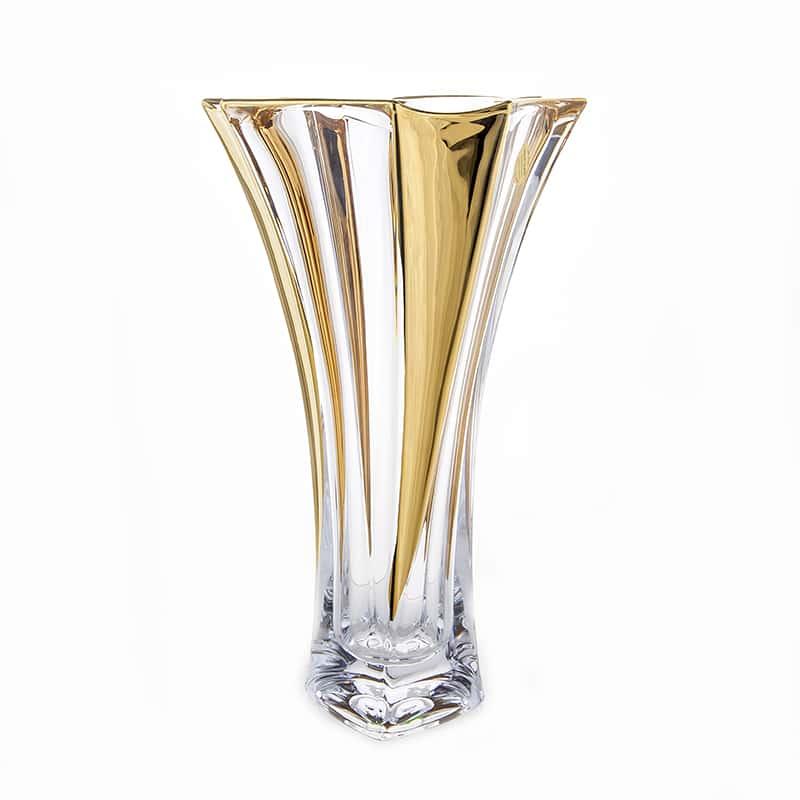 Нептун Блестящая 2 Ваза для цветов иксовка Union Glass 32 см.