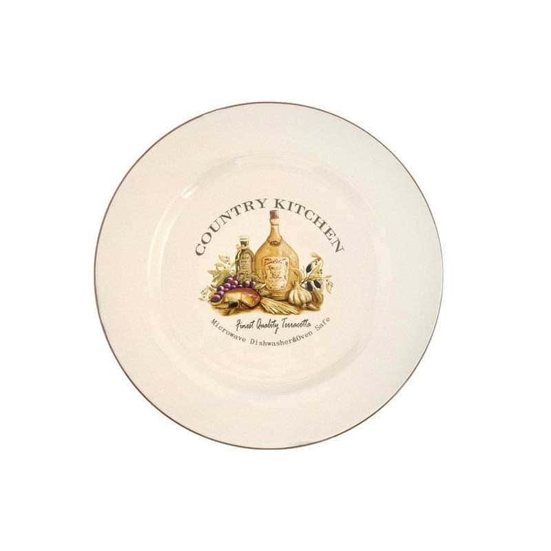 Сардиния Обеденная тарелка Terracotta из Китая в подарочной упаковке 26 см.