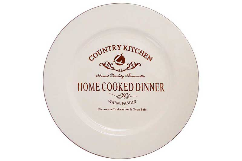 Кухня в стиле Кантри Обеденная тарелка Terracotta Китай в подарочной упаковке