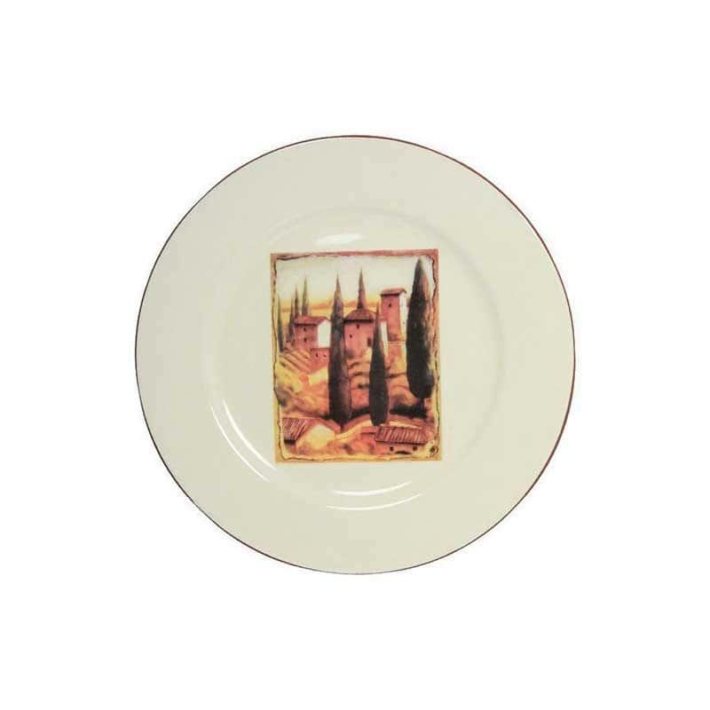 Итальянская деревня Обеденная тарелка Terracotta из Китая в подарочной упаковке