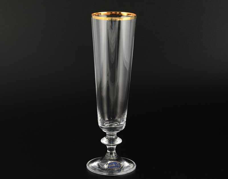 BELLA Набор фужеров для шампанского Bohemia Crystal 205 мл (6 шт)