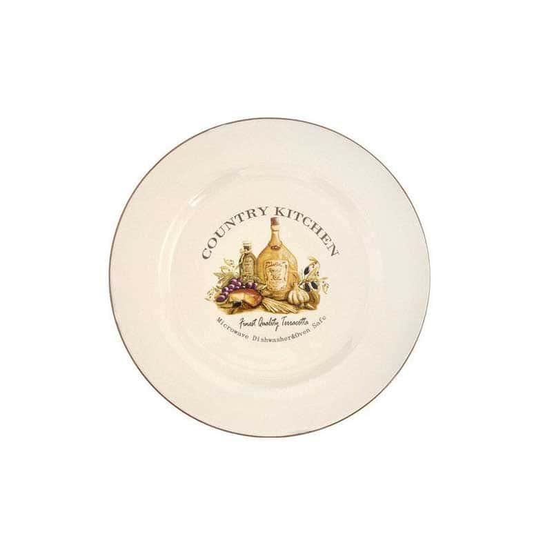Сардиния Закусочная тарелка из керамики Terracotta из Китая 21 см.