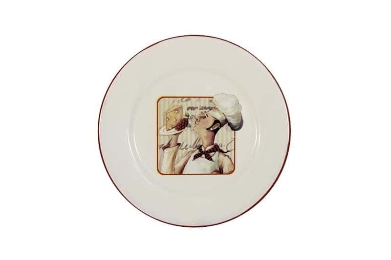 Шеф-повар Тарелка закусочная из керамики Terracotta из Китая 21х21х2 см.