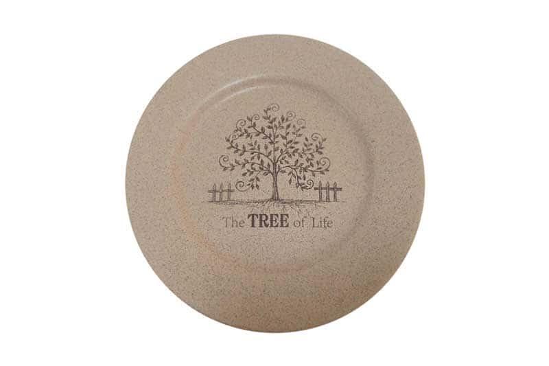 Дерево жизни Закусочная тарелка керамическая Terracotta из Китая 21 см.