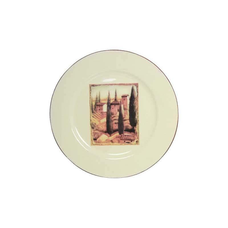 Итальянская деревня Закусочная тарелка Terracotta из Китая в подарочной упаковке