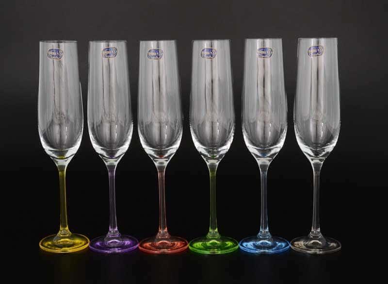 Арлекино Набор фужеров для шампанского Bohemia Crystal 190 мл (6 шт)