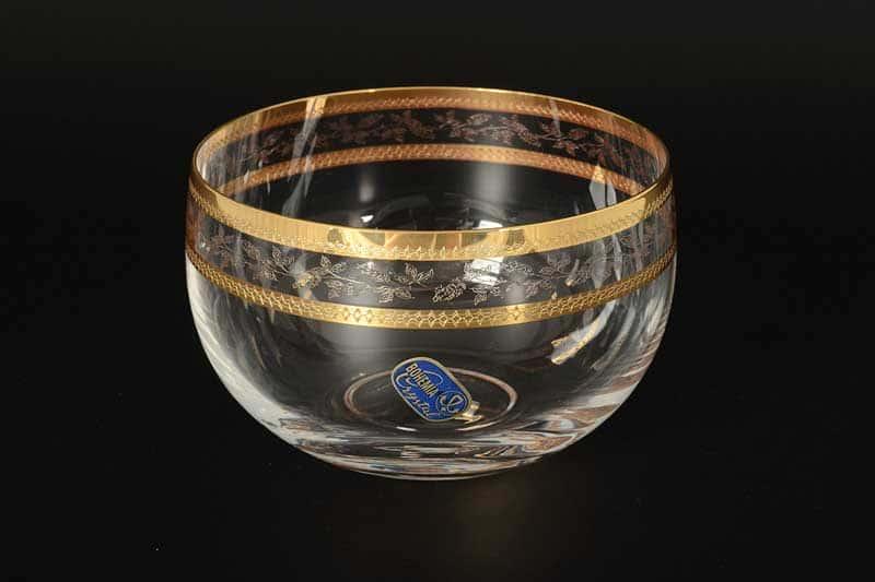 Золотой Лист V-D Конфетница Bohemia Crystal 12 см