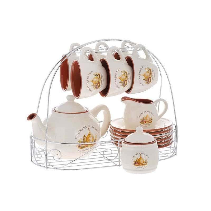 Сардиния Чайный нйабор из 16 предметов на 6 персон Terracotta Китай в подарочной упаковке