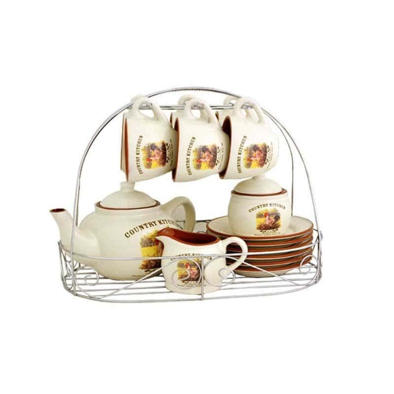 Деревенское утро Чайный набор на 6 персон из 15 предметов Terracotta Китай в подарочной упаковке
