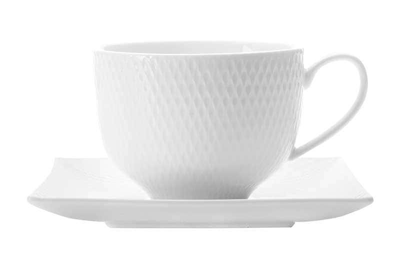 Даймонд Чайная чашка с квадратным блюдцем Maxswell & Williams из Китая