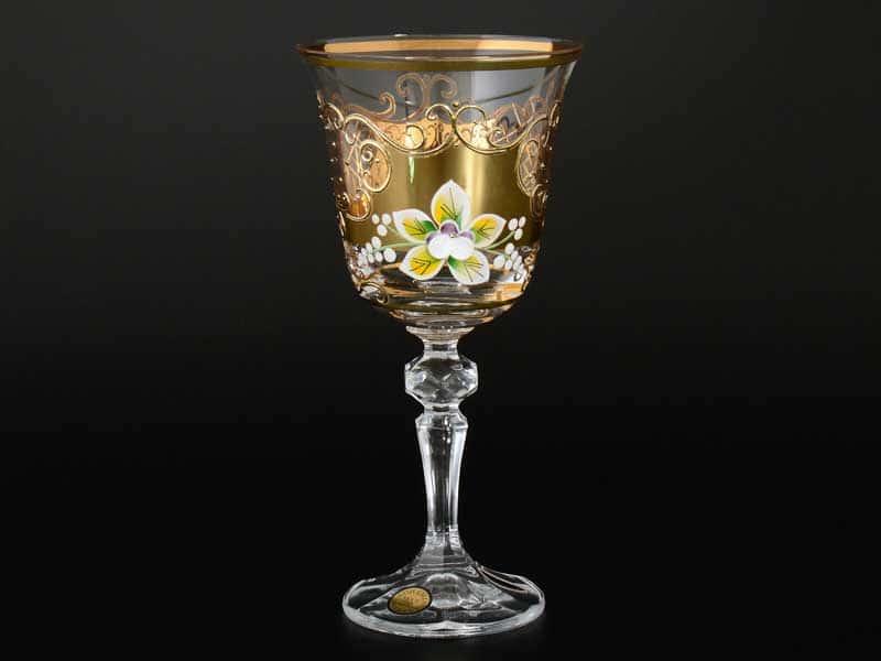 Star Crystal Лепка Набор бокалов для вина 220 мл Bohemia Max