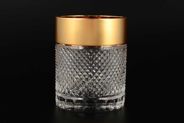 Фелиция Набор стаканов для виски 300 мл Sonne Crystal Золото (6 шт)