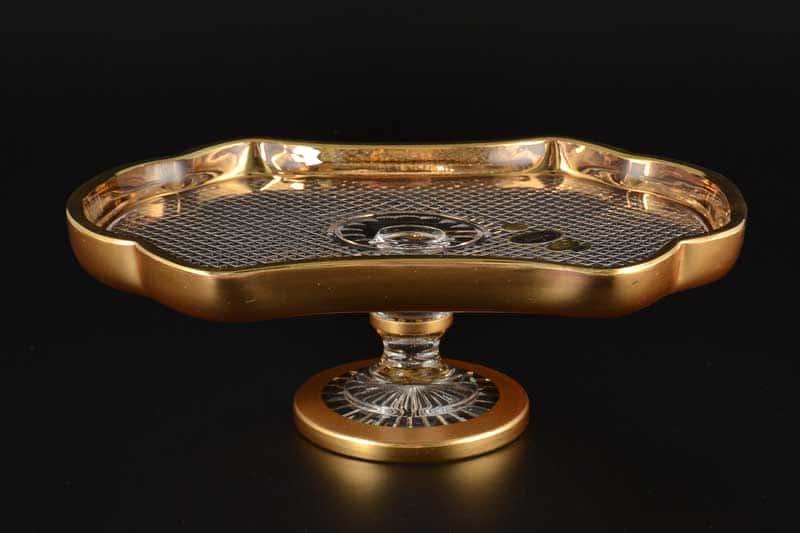 Фелиция Рулетница 27 см Sonne Crystal Золото на ножке