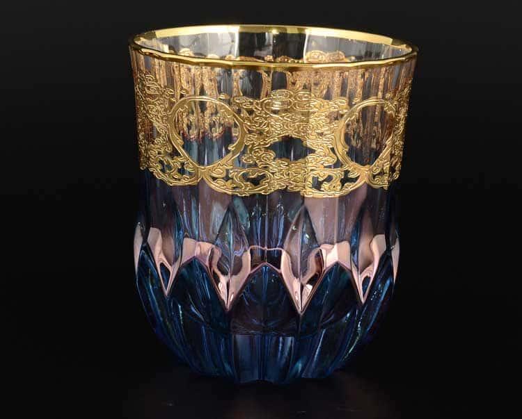 TIMON синий Набор стаканов для виски из Италии