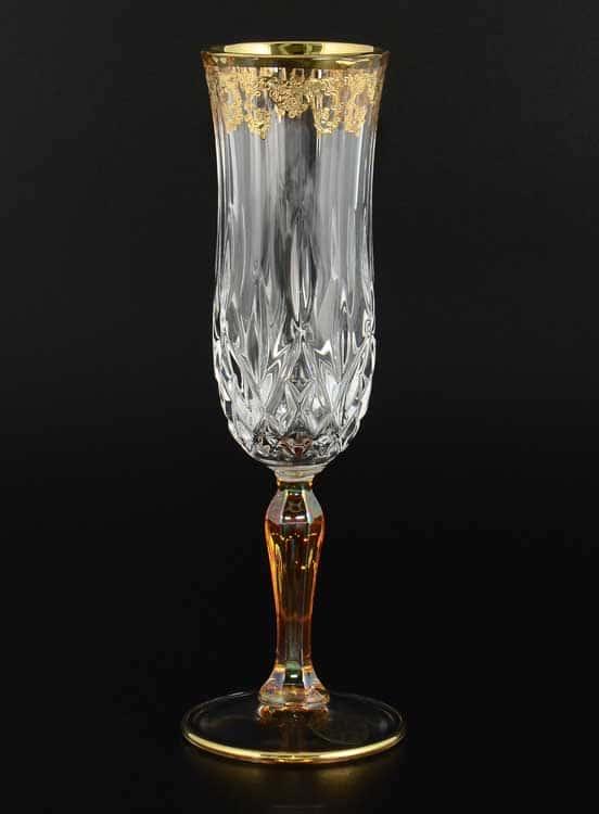 TIMON Набор фужеров для шампанского из хрусталя Италия
