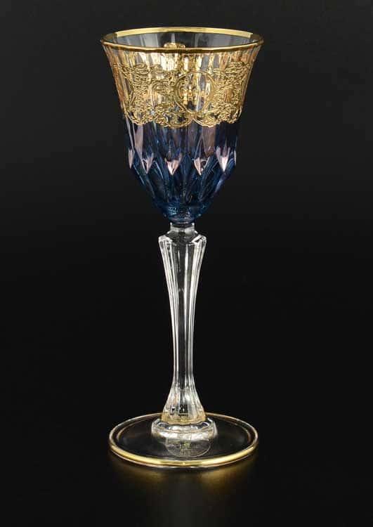 TIMON синий Набор рюмок для водки хрустальные из Италии