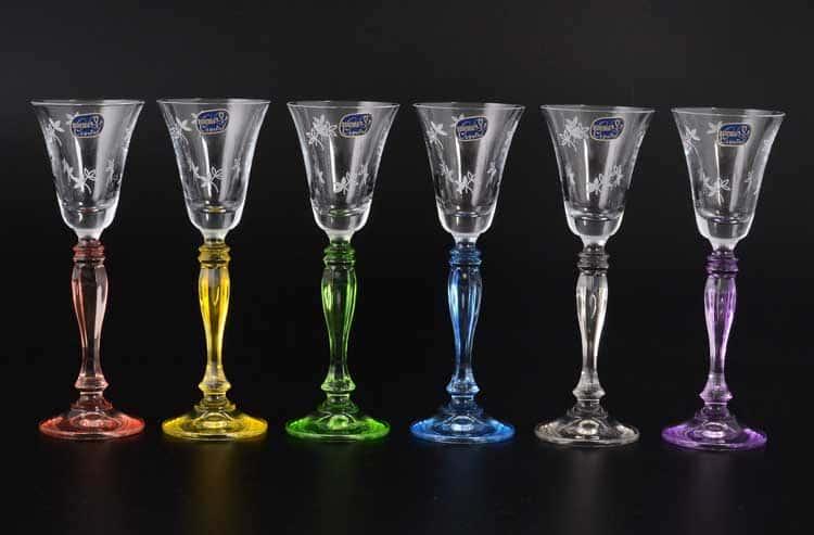 Victoria Engraved Кристалекс Набор рюмок для водки Bohemia Crystal 60 мл (6 шт)