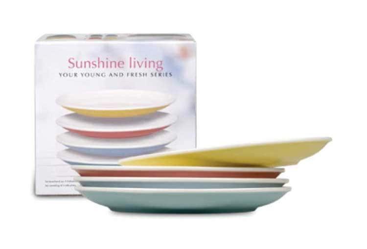 Вахстербах Набор тарелок разноцветных 19 см. 4 шт. фарфор