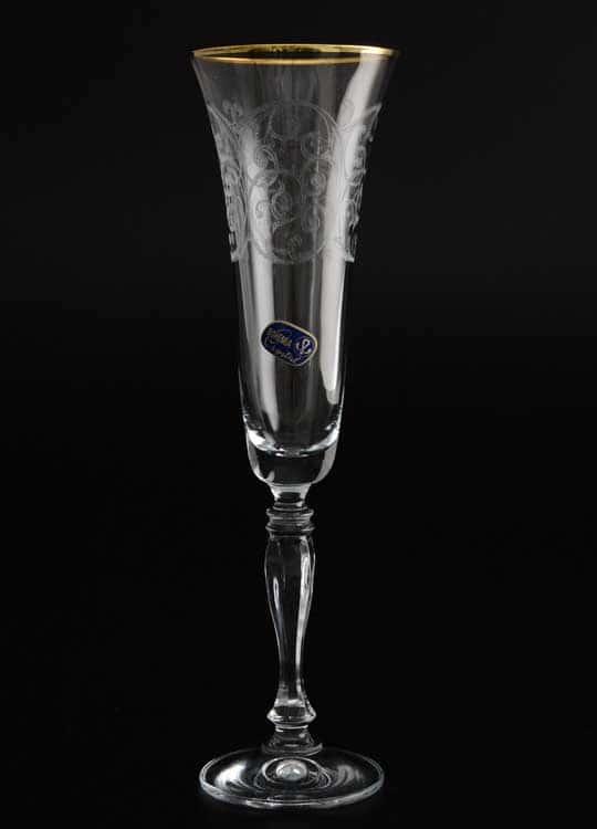 Виктория Набор фужеров для шампанского Bohemia Crystal 180 мл (6 шт)