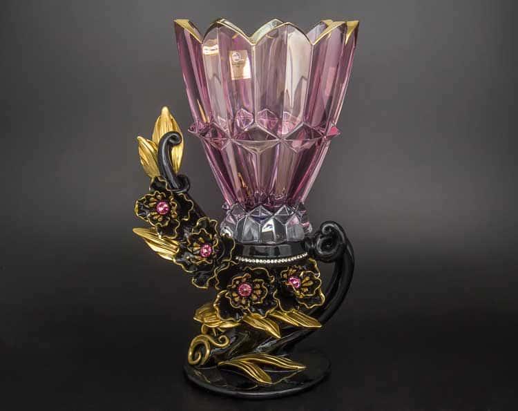 Ваза декоративная Cevik Group 42 см стекло керамика