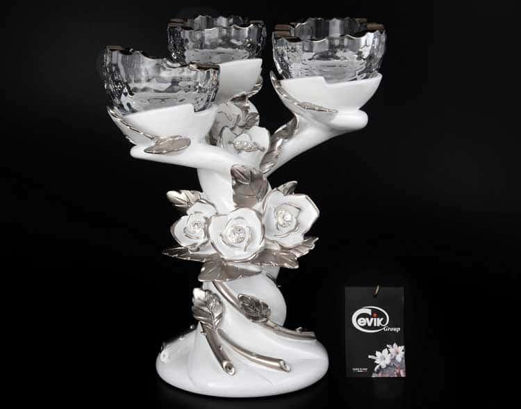 Подсвечник на 3 свечи Cevik Group 34 см