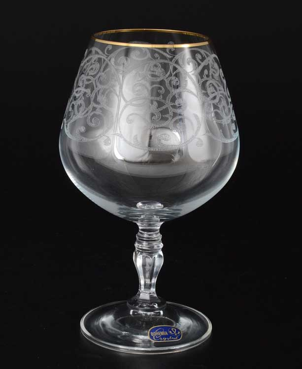 Виктория Набор бокалов для бренди Bohemia Crystal 380 мл (6 шт)