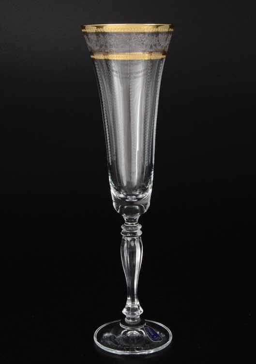 Виктория узор Набор фужеров для шампанского Bohemia Crystal 180 мл (6 шт)