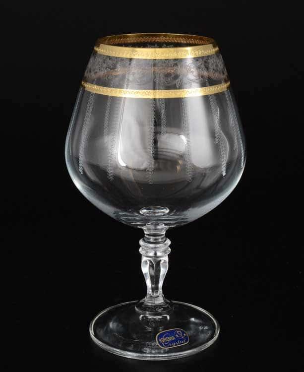 Виктория узор Набор бокалов для бренди Bohemia Crystal 380 мл (6 шт)