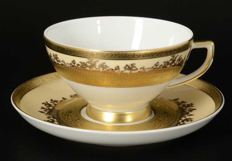 Creme Gold 9320 Набор чайных пар Falken 220 мл (6 пар)