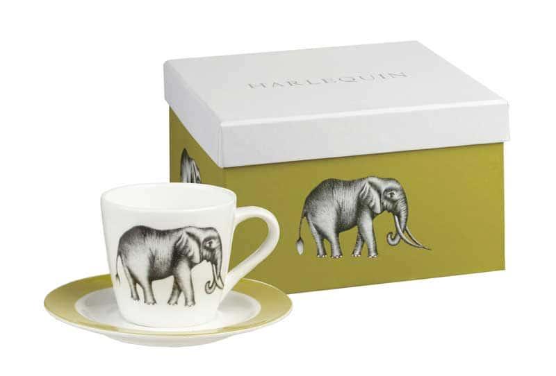 Саванна от Арлекин Кофейный набор: чашка с блюдцем Churchill из Англии 4 предмета
