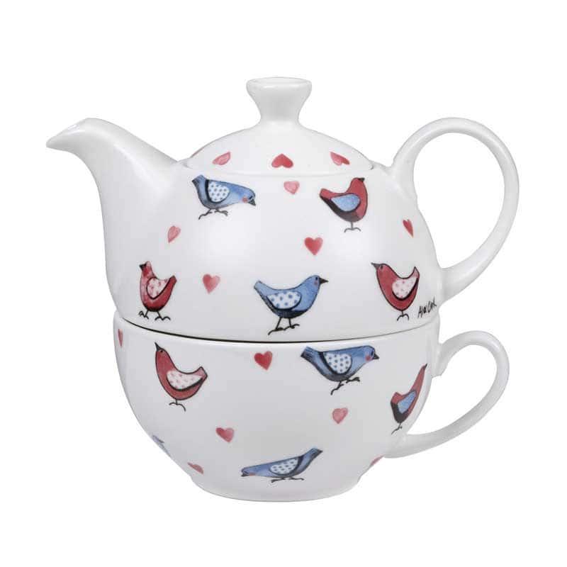 Птички от Алекс Кларк Набор чайник и чашка Churchill из Англии