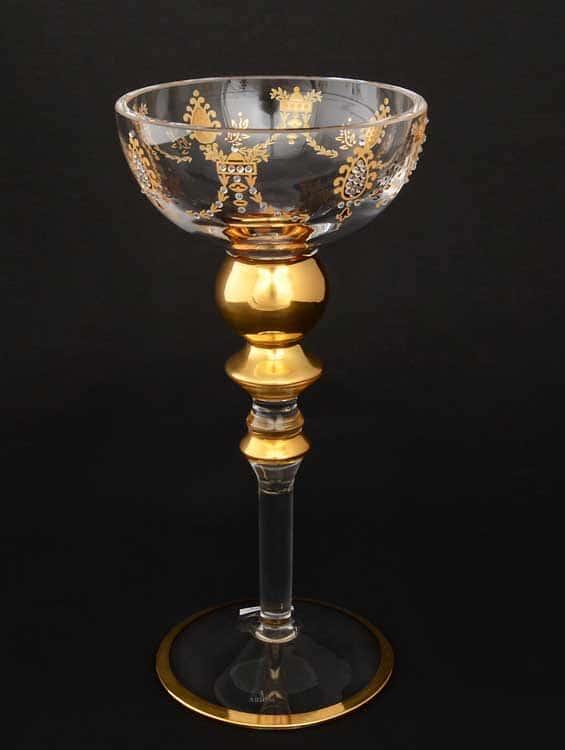 Mone золото Подсвечник на ножке из стекла Arium