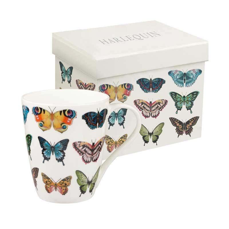 Бабочки от Арлекин Кружка Churchill из Англии 425 мл. в подарочной упаковке