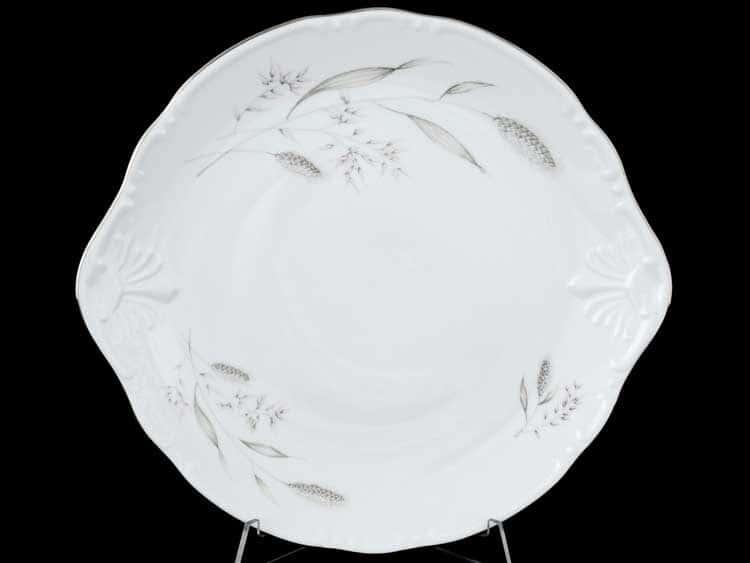 Констанция Серебряные колосья 603100 Тарелка для торта Thun 27 см