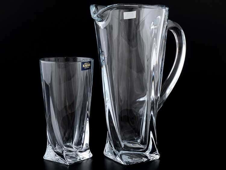QUADRO Набор для воды Crystalite Bohemia 7 предметов 800/390