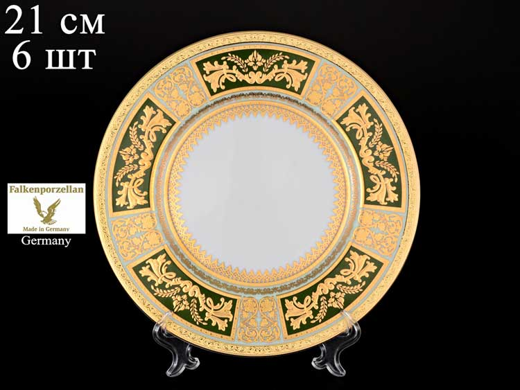 Diadem Green Mint Gold Набор тарелок Falken 21 см (6 шт)