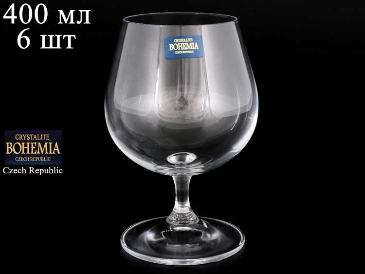 KLARA Набор бокалов для бренди Crystalite 400 мл (6 шт)