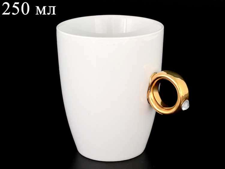Кружка золото Ереми 250 мл из чешского фарфора