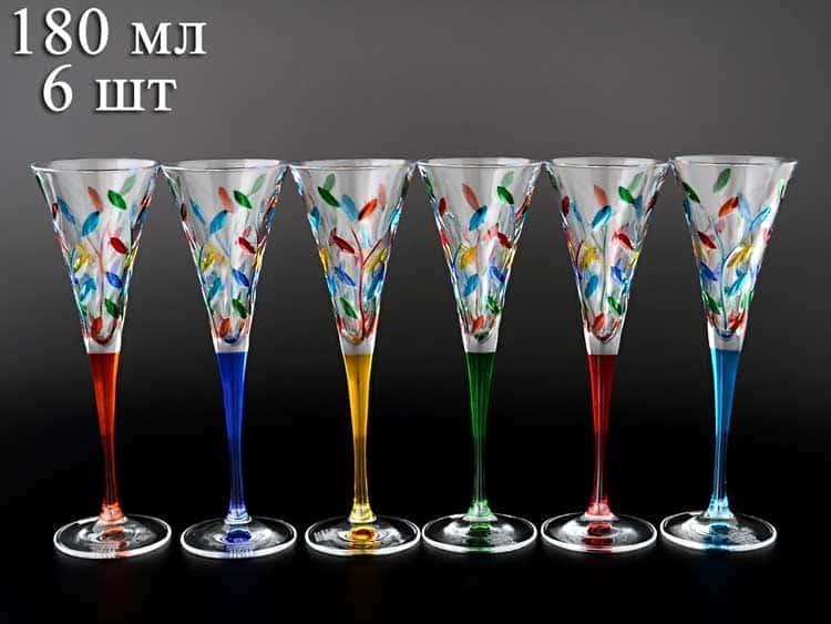 Дуе Зета Лаурус Набор фужеров для шампанского 180 мл (6 шт)