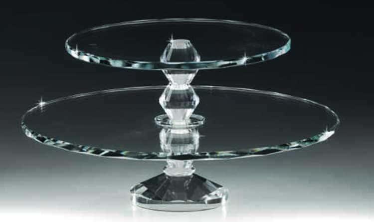 Ранолди Горка 2-х ярусная стеклянная 32х17 см.