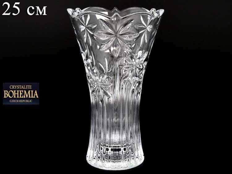 PERSEUS-NOVA Ваза для цветов иксовка Crystalite Bohemia 25 см