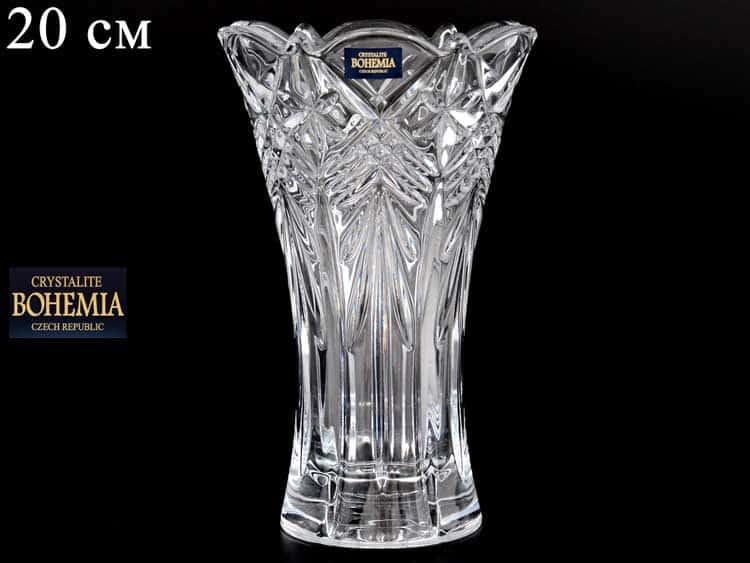 TAURUS Ваза для цветов иксовка  Crystalite Bohemia 20 см