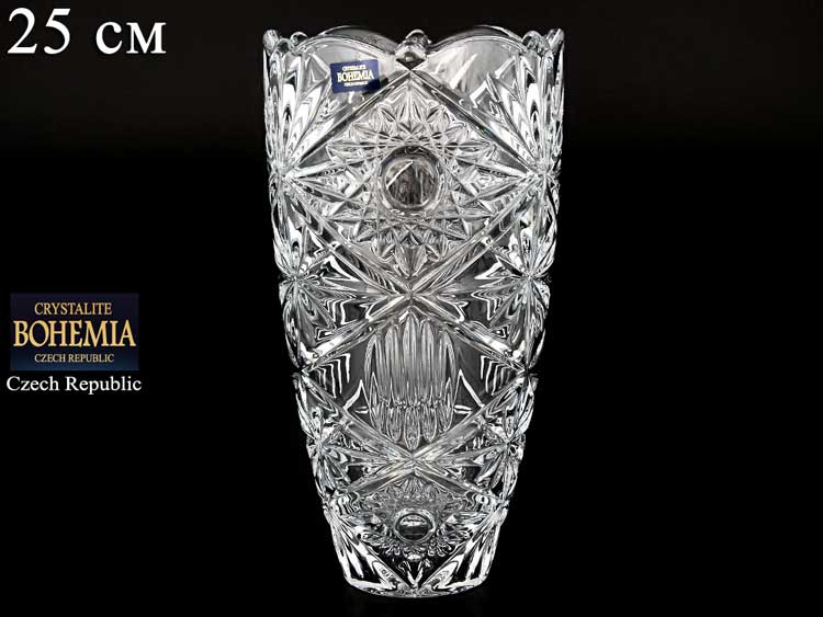 MIRANDA В Ваза для цветов Crystalite Bohemia 25 см 33777