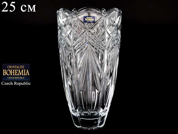 TAURUS Ваза для цветов 25 см Crystalite Bohemia